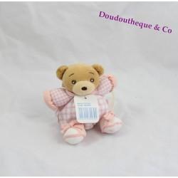Mini bears doudou KALOO lilirose Pink Plaid tie pacifier 13 cm