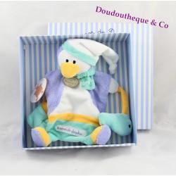 Doudou marionnette pingouin DOUDOU ET COMPAGNIE Graines de doudou bleu poisson grelot
