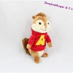 Peluche Alvin GIPSY Alvin et les Chipmunks sweat rouge 20 cm