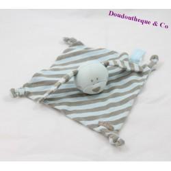 Doudou rabbit flat ORCHESTRA blue gray stripes node 18 cm