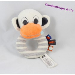 Rattle monkey H & M nose orange Bell scratches 14 cm
