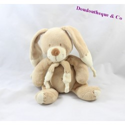 Doudou Plat lapin PLUSHIES Collection Beige