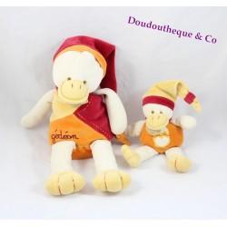 Peluche Gédéon canard DOUDOU ET COMPAGNIE avec bébé LR 29 cm