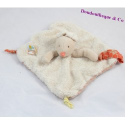 Doudou plat Bigoudi Souris MOULIN ROTY collection Biscotte et Pompon attache tétine
