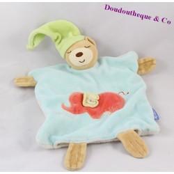 Doudou plat marionnette Ours KALOO brodé éléphant