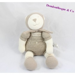 Teddy bear the three bears Linvosges combination gray 27 cm