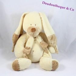 Peluche lapin Bastien NICOTOY croix beige 36 cm