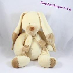Doudou rabbit Bastien 20cm cream and Beige NICOTOY