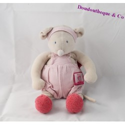 Plush musical mouse MOULIN ROTY Lila and Patachon pink 30 cm
