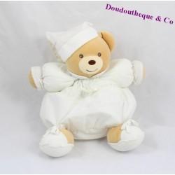 Doudou patapouf ours KALOO Dragées lin blanc 23 cm