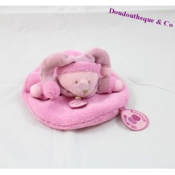 Doudou flat bear BLANKIE and company soft macaroon pink 16 cm