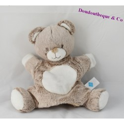 Doudou puppet bear TEX BABY beige 24 cm
