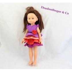 Poupée Chloé COROLLE Les Chéries brune robe mauve 33 cm
