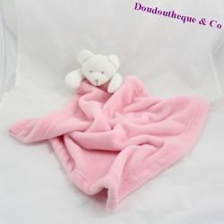 Doudou couverture ours KING BEAR rose 64 cm