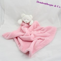 Doudou couverture ours KING BEAR rose 64 cm