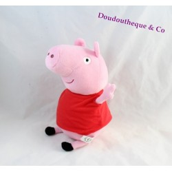 Peluche Peppa Pig PLAY BY PLAY cochon rose robe rouge 27 cm