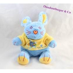 Plush rabbit FUTUROSCOPE blue t-shirt yellow stuffed souvenirs amusement park