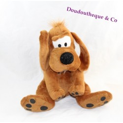 Peluche Bill chien Boule et Bill marron assis 30 cm