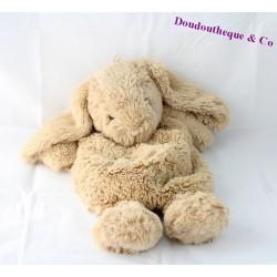 Plush range rabbit ETAM bouillotte 48 cm beige pajamas