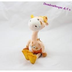 Doudou Gigi la girafe CARRE BLANC plongée 28 cm