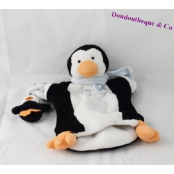 Doudou puppet Penguin DOUDOU and company MOM and baby 23 cm