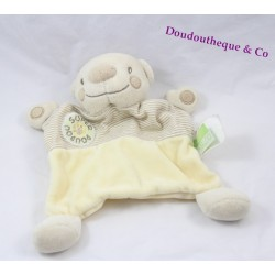 Bear flat Doudou KIMBALOO super Don beige cream striped 21 cm