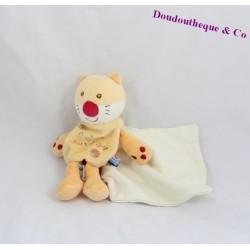 Doudou cashew cat candy CANE doudou handkerchief cashew cat orange 19 cm