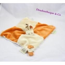 Peluche doudou Hippopotame Hippoum NOUKIE'S beige salopette verte - 25 cm