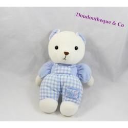 Teddy bear Teddy overalls blue gingham Bell 24 cm
