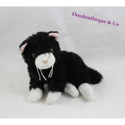 Plush cat the PELUCHERIE black and white 20 cm