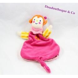 Doudou princesse KATHERINE ROUMANOFF VERTBAUDET marionnette rose