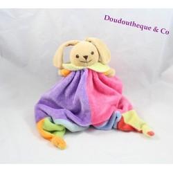 Doudou flat reversible bear rabbit Teddy bear cache cache