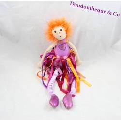 Poupée Sophie SEPHORA cheveux orange 2005 jupe bande rose mauve 40 cm