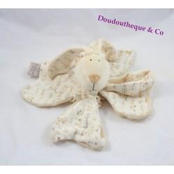 Doudou rabbit flat CMP P' little rabbit beige happy clover