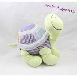 Plush turtle Yvan NOUKIE's Arthur and Merlin green violet 25 cm