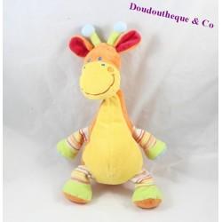 Doudou Girafe Orange MOTS D'ENFANTS Position Assise 33cm