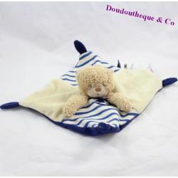 Doudou flat bear CHEEKBONE marine blue beige 21 cm