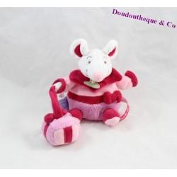 Doudou souris DOUDOU ET COMPAGNIE Graines de doudou cadeau rouge rose 13 cm
