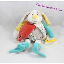Doudou chien BABY NAT' Diablotin pantin d'acitvités 35 cm