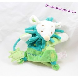 Doudou puppet mouse Don and company Sun mouse Green 20 cm