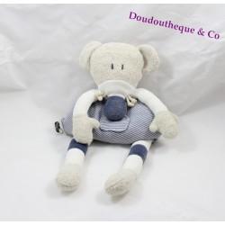 Peluche souris Bébé Confort rayé bleu blanc gris 35 cm