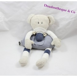 Plush mouse baby comfort striped blue white gray 35 cm