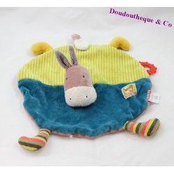 Doudou flat donkey MOULIN ROTY Cousins of the Blue-Green Mill 32 cm