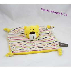 Doudou flat Tiger ORCHESTRA yellow striped bear or cat 25 cm