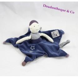 Doudou plat poupée MOULIN ROTY Aimé et Céleste étoile bleu prune