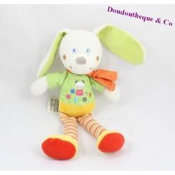 Peluche doudou Chien MOTS D'ENFANTS ronds de couleur 30 cm