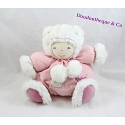 Doudou patapouf poupon KALOO rose Igloo poisson 28 cm