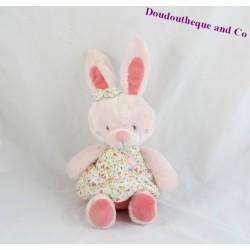 Doudou rabbit TEX BABY dress flower bird 25 cm