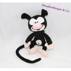 Peluche bébé Marsupilami AJENA NOUNOURS noir 16 cm assis