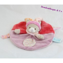 BABY NAT Nina and Nino pink cat flat comforter